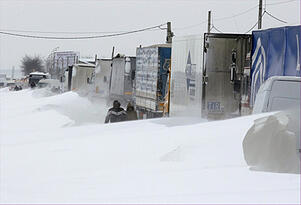 Snow fall affecting supply chain in CEE