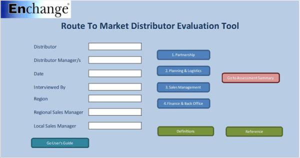 Distributor assessment tool