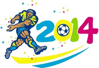 Brazil world cup football logo