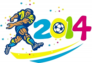 Brazil world cup football logo